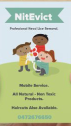 Hairdresser. Specialising in the Treatment and Removal of Head Lice.